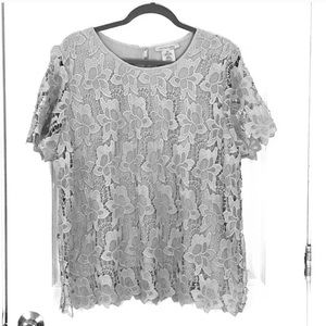 Tops - Gray Lace Top